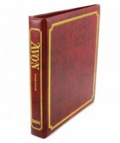 Stanley Gibbons loose leaf albums Avon Stamp Album Binder Only – Red