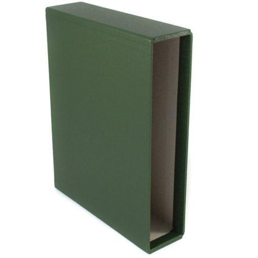 Stanley Gibbons loose leaf albums Slipcase for Devon Album, Green