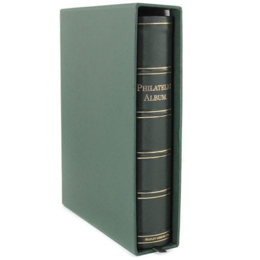 Stanley Gibbons loose leaf albums Philatelic album & slipcase with 40 leaves