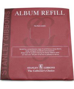 Stanley Gibbons loose leaf albums Universal Extra Booklet 2 Strip Leaves Per 5